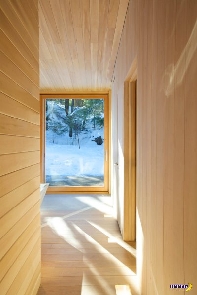 Затерянный в лесах - деревянная отделка